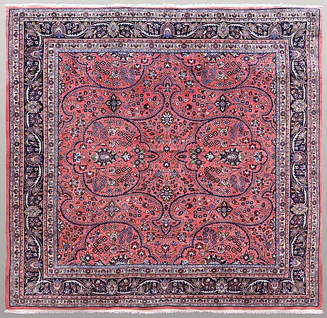 A carpet, old koljaj, 243 x 252 cm.