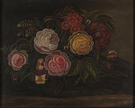 Okänd konstnär, oil on canvas, signed carolina molin and dated 1895.