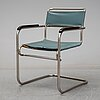 A tubular steel armchair, 1930's.