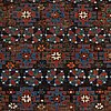 A rug, antique kuba chichi, ca 190,5 x 125 cm.