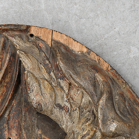 Wall relief, wood.