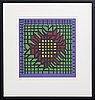 Victor vasarely, a lithograph in color, numbered 45/250 and signed.
