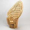 A 21 st century rattan chair.