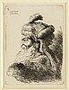 Giovanni benedetto castiglione, etching signed in plate.
