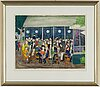 Lennart jirlow, lithograph in colours, 1986, signed 31/310.
