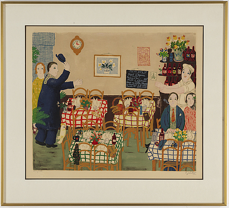 Lennart jirlow, lithograph in colours, 1975, signed xxiii/lxx.