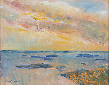 Kaapo wirtanen, oil on board, signed and dated 1913.