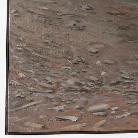 Tommy hilding, oil on canvas, signed and dated 1982.