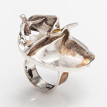 "Björn Weckström, A stelring silver ring ""Jaara's dream"". Lapponia 1970."