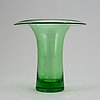 Helena tynell, a glass vase, 'kaulus', signed helena tynell riihimäen lasi oy.