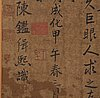 Kinesisk konstnär, tusch och färg. qingdynastin (1664-1912).