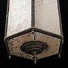 A 19th century glass and brass lantern.