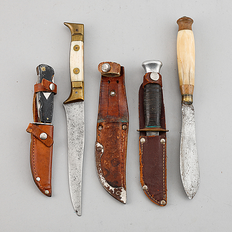 Four knives, 19th/20th century.