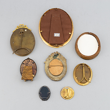 Eight photo frames, different models, first half of the 20th century.