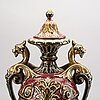 A rörstrand majolica urn around 1900.