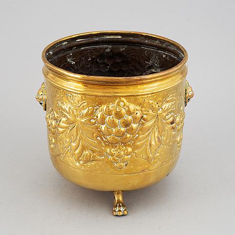 Champagnekylare, mässing, 1800-tal.