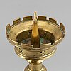 A 19th century bronze church candlestick.
