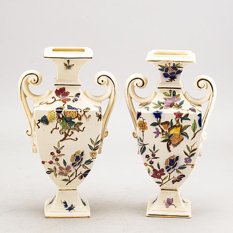 A set of 2 pairs of rörstrand majolica urns.