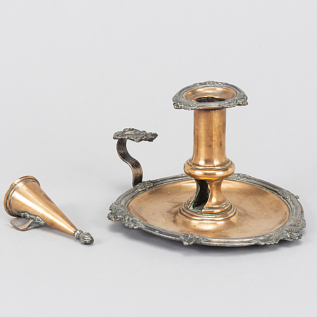 Nattljusstakar, 2 st, 1800-tal.