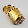 An 18th century brass spoon holder.
