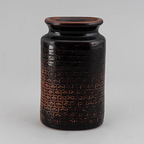 A stig lindberg vase from gustavsbergs studio, signed.