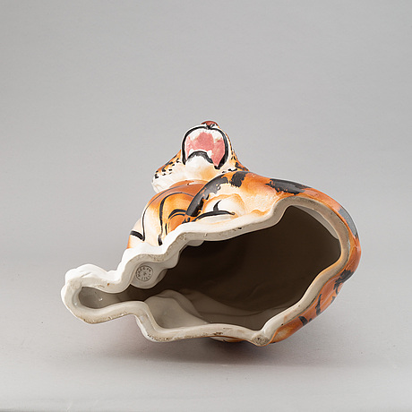 A ceramic sculpture, italy, second half of the 20th century.