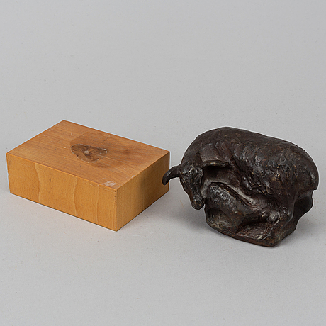 Henrik allert, skulptur, brons, signerad. höjd 7 cm.