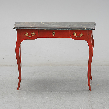 A rococo style writing desk, late 20th century.