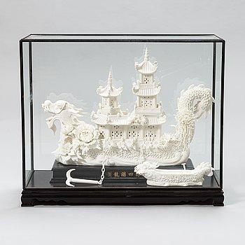 Laiva-patsas, posliinia, itämainen.