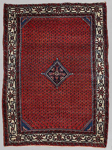 A rug, semi-antique west persian, ca 145 x 106 cm.