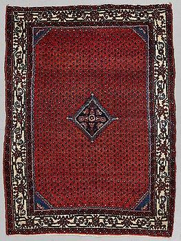 A rug, semi-antique west persian, ca 145 x 106 cm.