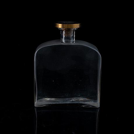 Firma svenskt tenn, a glass bottle by björn trägårdh, stockhom 1930s.