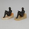 A pair of art déco style book ends, first half of the 20th century.