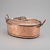 A 19th century copper fish pan.