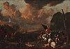 Johannes lingelbach, battle between christians and ottomans.