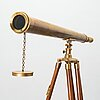 A spotting scope with stand from the latter half of the 20th century.