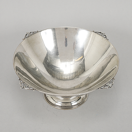 Cg hallberg, skål, silver, stockholm 1931.