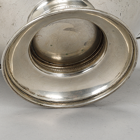A silver bowl, mark of cg hallberg, stockholm 1931.