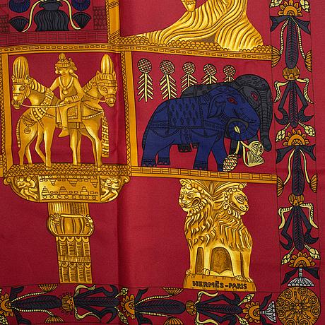 Hermès, a 'torana' silk scarf.