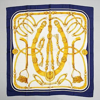 Hermès, a 'Gaucho par Hermès' silk scarf.