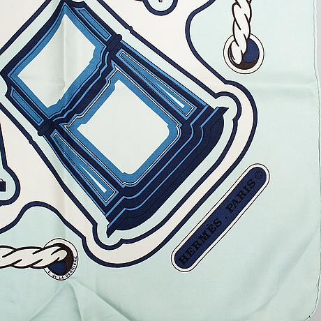 Hermès, a silk scarf.
