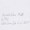 Carl johan de geer, fotografi, 2011, signerat 6/50 a tergo.