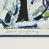 Sven lidberg, coloured lithograph, signed pt.