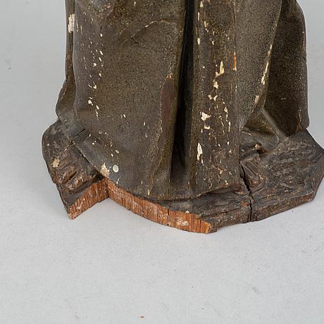 Sculpture, wood, around 1800.