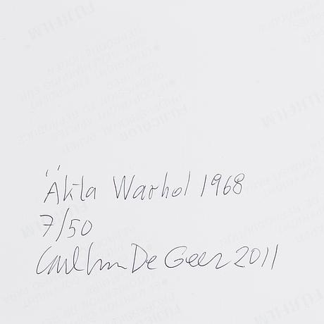 Carl johan de geer, photo, 2011, signed 7/50.