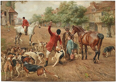 Alfred william strutt, the fox hunt - the punishment.