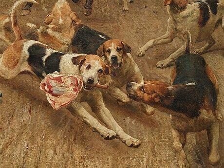 Alfred william strutt, the fox hunt - the theft.