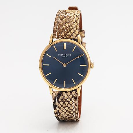 Patek philippe, calatrava, wristwatch, 33 mm.