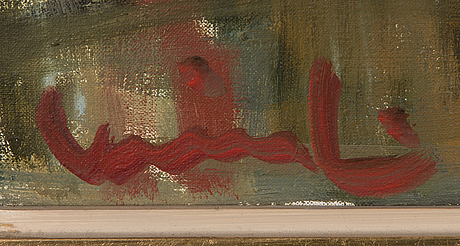 Olavi laine, oil on canvas, signed and dated.
