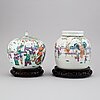 Two chinese jars with covers, china, circa 1900.